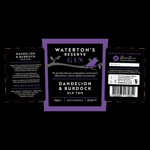 Dandelion & Burdock Gin Watertons Reserve